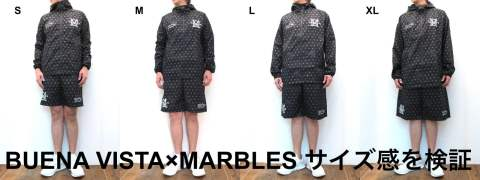 BUENA VISTA×MARBLES コラボセットアップのサイズ感を検証。