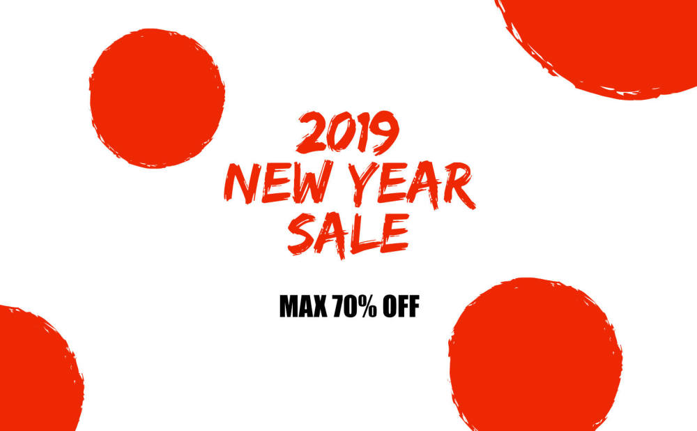 2019 NEW YEAR SALE スタート!