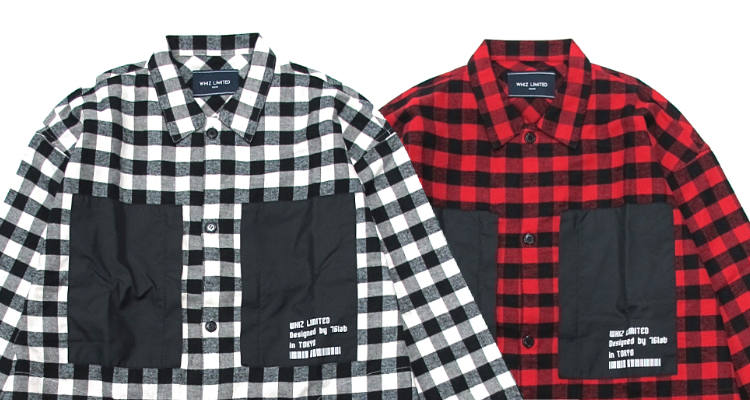 NEW ARRIVAL / WHIZ LIMITED-BLOCK CHECK SHIRTS