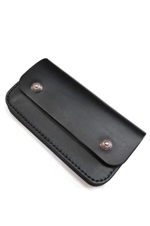 ANTIDOTE BUYERS CLUB / TRUCKER WALLET (SMOOTH LEATHER) (BLACK) / ロングトラッカーウォレット