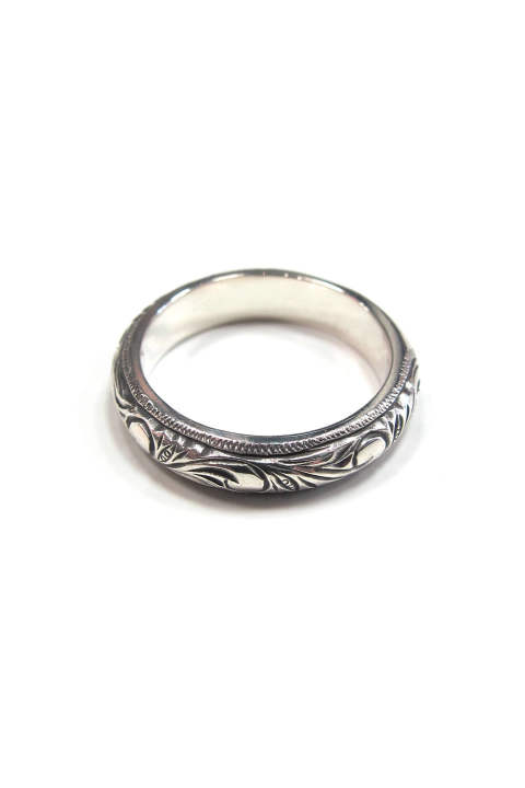 ENGRAVED PINKY RING (SILVER) / オーナメント彫りピンキーリング