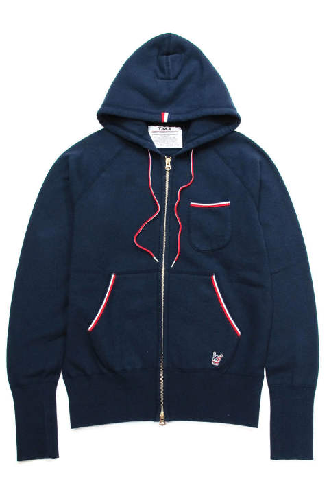 RAISED BACK FRENCH TERRY LONESTAR ZIP PARKA (NAVY) / 裏起毛スウェットジップパーカー