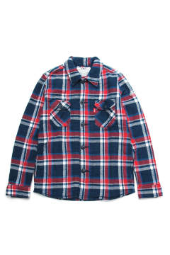 LONESTAR COLOR BLANKET CHECK SHIRTS (NAVY)