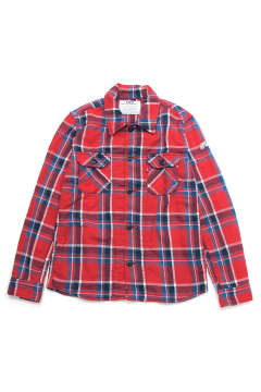 LONESTAR COLOR BLANKET CHECK SHIRTS (RED)