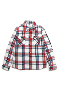 LONESTAR COLOR BLANKET CHECK SHIRTS (OFF WHITE)