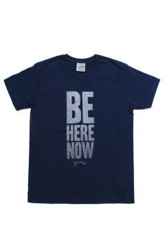 S/S RUFFI JERSEY T-SHIRT #BE HERE NOW (NAVY)