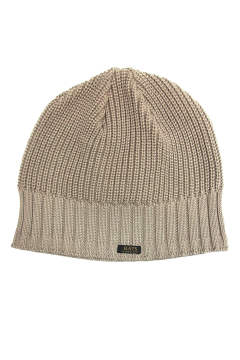 TWO WAVE KNIT CAP (BEIGE) / ベレー風ニットキャップ