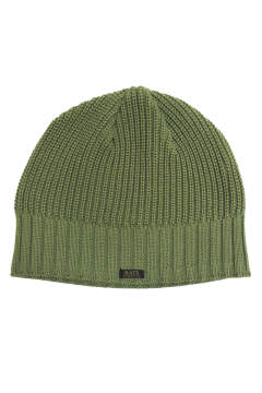 TWO WAVE KNIT CAP (GREEN) / ベレー風ニットキャップ