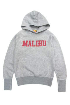 SUEDE FRENCH TERRY PARKA (MALIBU) (TOP GRAY) / スウェードスウェットパーカー (マリブ)
