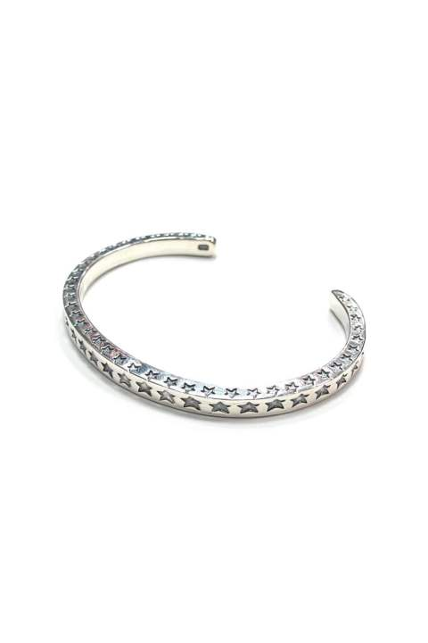 SQUARE WIRE BRACELET (STAR) (SILVER) / スター シルバーバングル