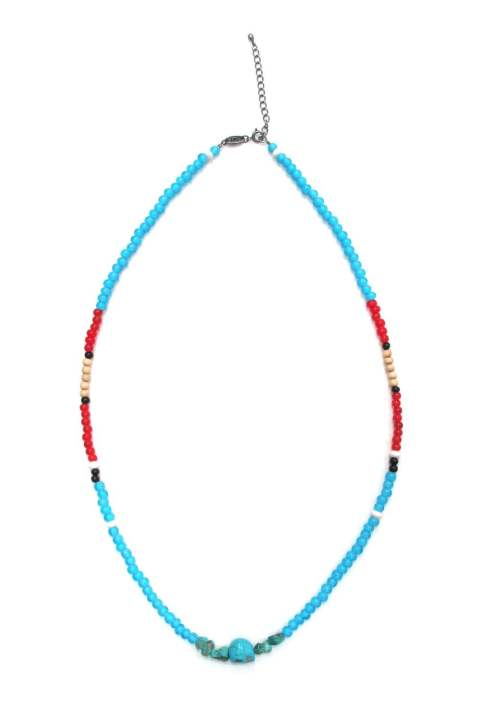 CALAVERA STONE NECKLACE (BLUE) / ビーズネックレス