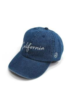 DENIM BASEBALL CAP (CALIFORNIA) (INDIGO)