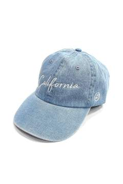 DENIM BASEBALL CAP (CALIFORNIA) (INDIGO LIGHT)