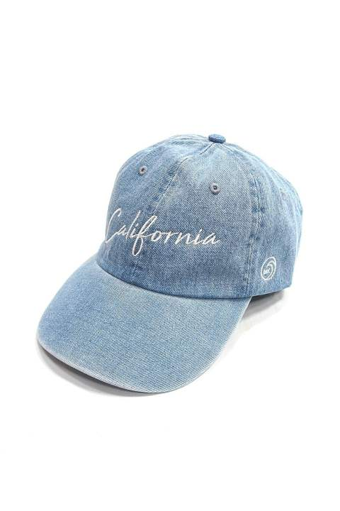 DENIM BASEBALL CAP (CALIFORNIA) (INDIGO LIGHT) / デニム ローキャップ