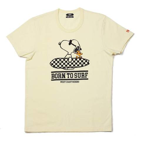 PEANUTS×TMT S/SL 17/1 JERSEY (BORN TO SURF) (YELLOW) / スヌーピー コラボT