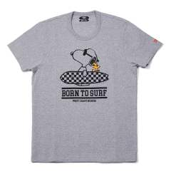 PEANUTS×TMT S/SL 17/1 JERSEY (BORN TO SURF) (TOP GRAY)