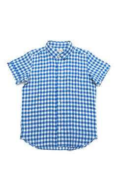 LINEN MADRAS CHECK S/SL SHIRTS (BLUE)