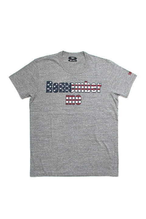 S/SL 19/1 RAFI JERSEY (U.S. FLAG REMEMBER ME) (TOP GRAY) / U.S.フラッグ&ラインストーンT