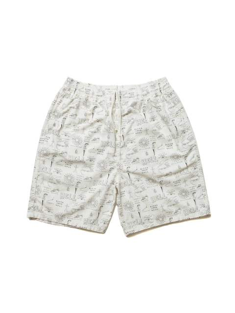 WEIRDO SHORTS (OFF WHITE) / 総柄ショーツ