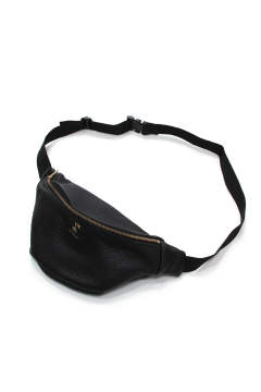 COW LEATHER WAIST BAG (BLACK) / レザーウエストポーチ