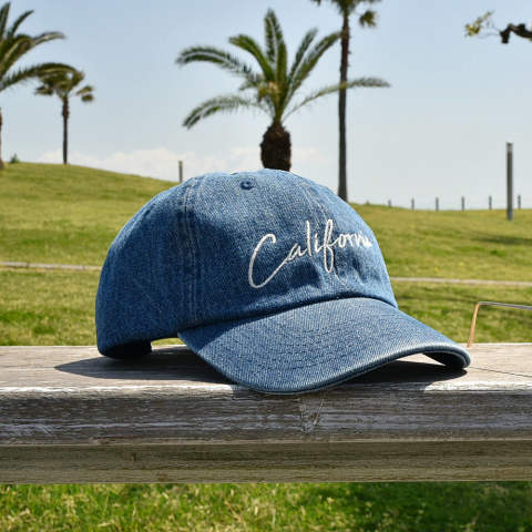 DENIM BASEBALL CAP (CALIFORNIA) (INDIGO) / デニム ローキャップ