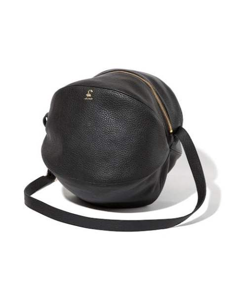COW LEATHER RUGGER BAG (BLACK) / レザーショルダーバッグ
