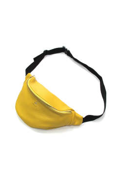 COW LEATHER WAIST BAG (YELLOW) / レザーウエストポーチ