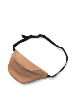 COW LEATHER WAIST BAG (BEIGE)