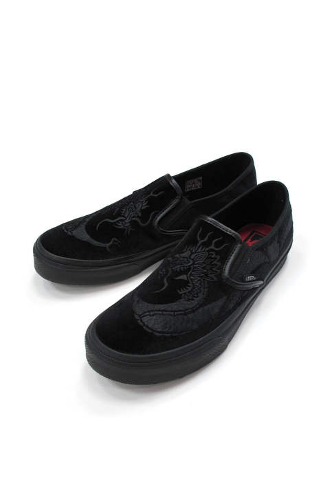 × VANS SLIP ON (BLACK) / DELUXE×VANS コラボ スリッポン