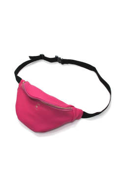 COW LEATHER WAIST BAG (PINK)