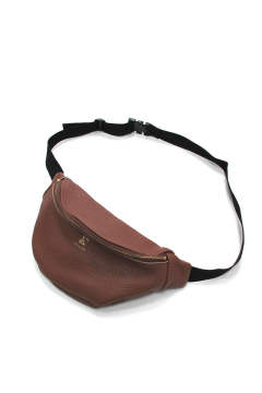 COW LEATHER WAIST BAG (BROWN) / レザーウエストポーチ