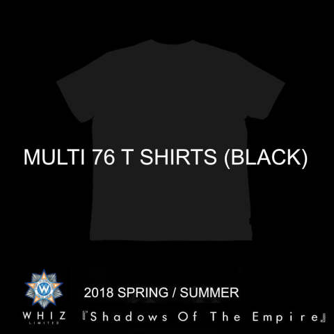 MULTI 76 T SHIRTS (BLACK) / マルチプリント76T