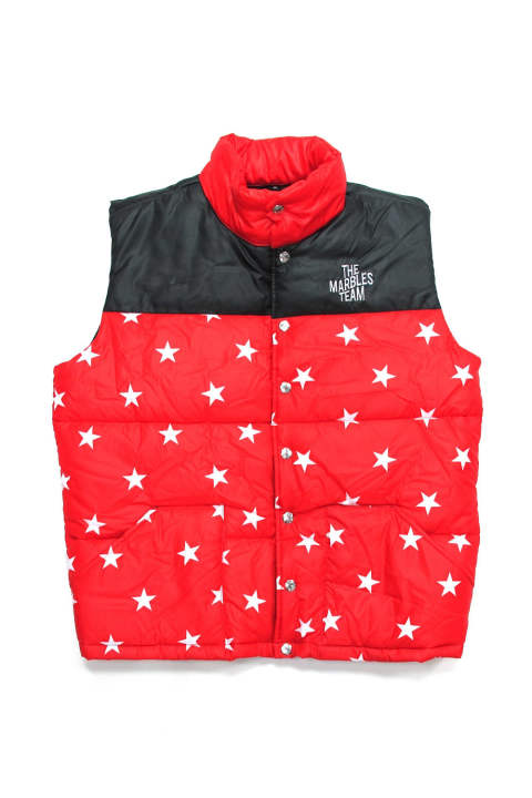 STARS PUFFY VEST (RED) / チームロゴプリント MA-1