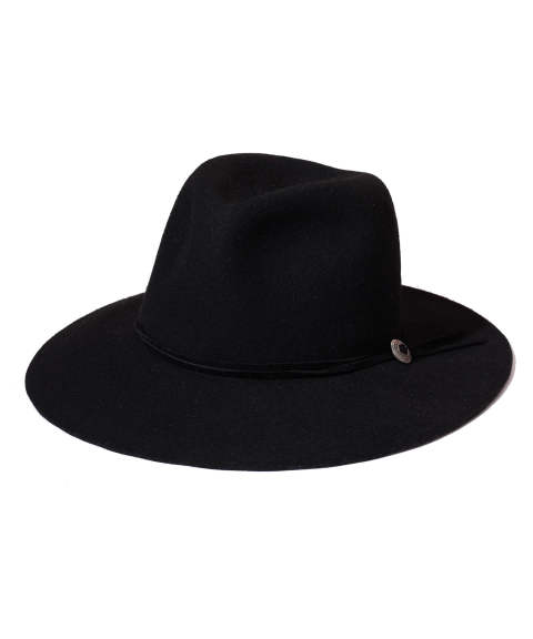 WOOL FELT HAT (SANTAFE) (BLACK) / フェルトハット