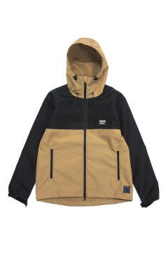 SWITCHING SHELL HOODIE (BROWN/BLACK) / 2トーン マウンテンパーカー