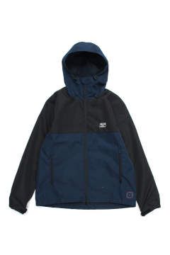 SWITCHING SHELL HOODIE (NAVY/BLACK) / 2トーン マウンテンパーカー