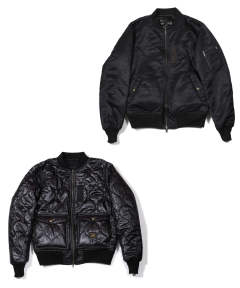 MA-1 TYPE REVERSIBLE FLIGHT JACKET (BLACK) / MA-1タイプ リバーシブルジャケット