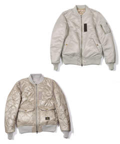 MA-1 TYPE REVERSIBLE FLIGHT JACKET (BEIGE) / MA-1タイプ リバーシブルジャケット