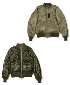 MA-1 TYPE REVERSIBLE FLIGHT JACKET (KHAKI) / MA-1タイプ リバーシブルジャケット