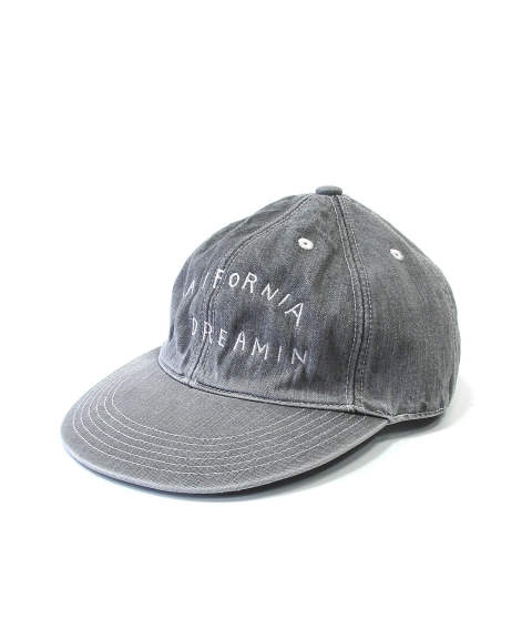 DENIM BASEBALL CAP (CALIFORNIA DREAMIN) (GRAY) / デニム ローキャップ