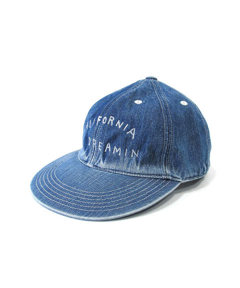 DENIM BASEBALL CAP (CALIFORNIA DREAMIN) (INDIGO LIGHT) / デニム ローキャップ
