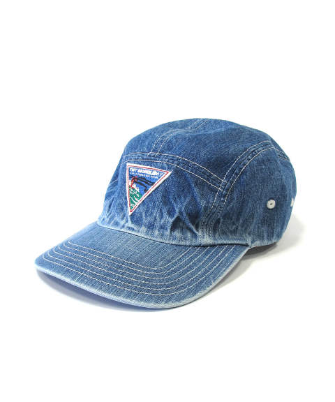 DENIM JET CAP (SURF WAPPEN) (INDIGO LIGHT) / デニムジェットキャップ