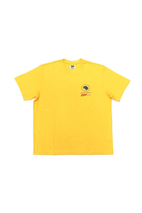 CIRCLE LOGO TEE (YELLOW) / バックプリント T