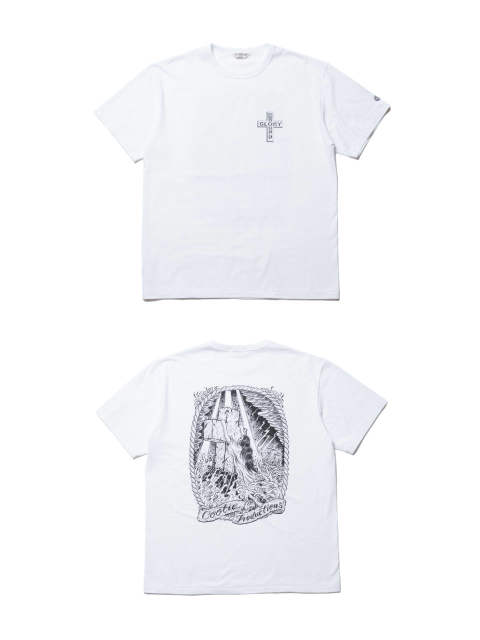 PRINT S/S TEE (ROCK OF AGES) (OFF WHITE) / マジカルデザイン コラボT
