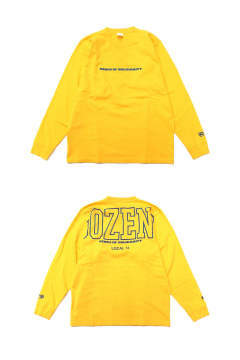PROTECT L/S (YELLOW) / ビッグロゴ バックプリントロンT