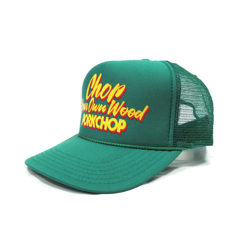 CHOP YOUR OWN WOOD CAP (GREEN) / プリントメッシュキャップ