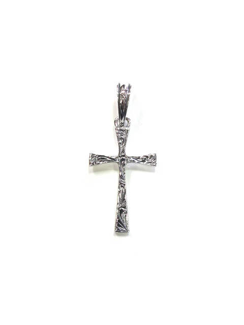 ANTIDOTE BUYERS CLUB / ENGRAVED TINY CROSS PENDANT (SILVER) / オーナメント彫り クロスペンダント