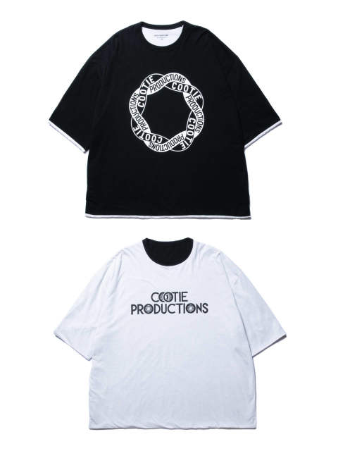 REVERSIBLE S/S TEE (BLACK/WHITE) / リバーシブルビッグT
