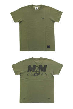 PRINT S/S TEE (LIGHT OLIVE) / ロゴ バックプリントT
